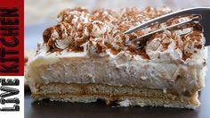 Greek Sweets, Greek Desserts, Cold Desserts, Greek Recipes, No Bake Desserts, Dessert Recipes, 5 Ingredient Desserts, Food To Make, Food Porn