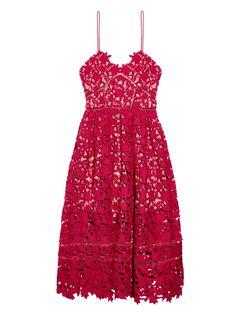 Self-Portrait Azaelea Floral-Lace Midi Dress, $341; matchesfashion.com   - ELLE.com