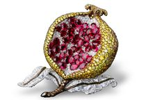 Pomegranate brooch... So cool!
