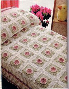 How To Crochet | Crochet Style ~: colcha lecho de flores