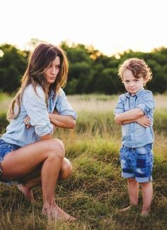 Family photography mother and son portrait // Taken by Shots by Cheyenne Ward ~so adorable and goofy