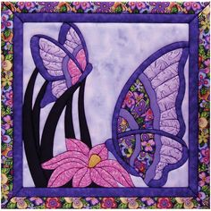 Butterfly Quilt-- could also be used in a mug rug, cute for KK's wall of memories--db