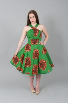 African clothing : NEW SIMONE dress handmade from authentic super wax print.african prints,ankara fabric,dresses (affiliate)