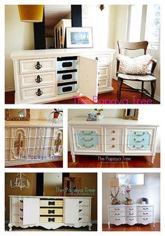 Dresser White Dresser Collection Custom Order Dresser, Nightstand, Buffet, 9 Drawer Dresser. $395.00, via Etsy.