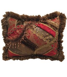 Decorative_accent_pillow-red-brown-pieced-embellished-rectangle-reilly_chance_collection