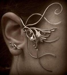 Fairy Ear wrap / Elven Earing Lynthialwë van Lewelyns op Etsy, €45.00 by obsidianwaters