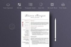 Ad: Resume Template Professional &V by Quality Resume on This is Professional resume template is just what you need to freshen up that old resume! Creative and stylish while still being Cover Letter For Resume, Cover Letter Template, Cv Template, Letter Templates, Print Templates, Resume Templates, Cover Letters, Student Cv Examples, Free Resume Examples