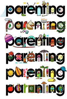 PARENTING logos by Aaron Meshon, via Behance