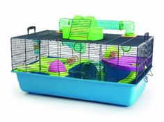 Savic Hamster Heaven Navy Blue Hamster Cage, 80 x 50 x 50 cm.
