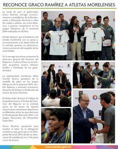 Reconoce Graco Ramírez a atletas morelenses.
