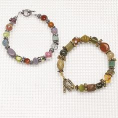 Cool jewels: Unite beads in a playful bracelet | BeadStyleMag.com