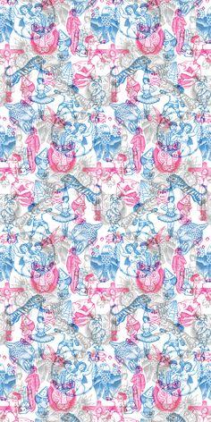 Tattoo Flash 02 Wallpaper – Blue and Pink #tattoowallpaper