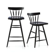 "Willa 24"" Swivel Black Counter Stool 
