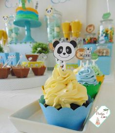 Festival Panda, Canal Panda, Panda Baby Showers, Panda Party, Baby L, Party Things, Birthday, Diy, Food