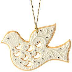 LENOX Ornaments: Animals - Dove Cookie Ornament