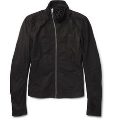 Rick Owens Washed-Leather Jacket | MR PORTER