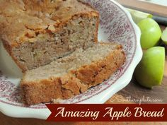 Amazing Apple Bread {Christy Jordan's Southern Plate}.. people are reporting back that it is, indeed, amazing.