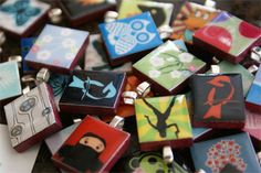 These are adorable and look really easy! Scrabble Tile Pendant tutorial.
