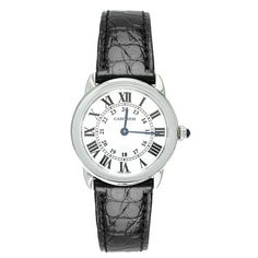 Cartier Leather Watch Black Woman