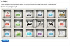 Dopasuj pełną nazwę formatu pliku do jego skrótu oraz ikony.  To multimedialna platforma edukacyjna umożliwiająca samodzielne zdobywanie oraz sprawdzenie swojej wiedzy. Platforma zawiera ponad 5500 autorskich pytań oraz zadań podzielonych na 19 kategorii tematycznych. Dzięki zastosowaniu elementów grywalizacji, możesz szybko przekonać się, że nauka nie musi być nudna.  Odpowiadaj na pytania Zdobywaj punkty Odkrywaj nowe poziomy Otrzymuj odznaki Rywalizuj z innymi Odbierz certyfikat Ikon, Dioramas