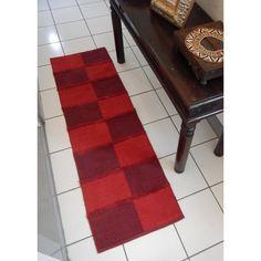 Red Chenille Cutpile Rug (55cm x 180cm) - Mode Alive - Home Decor Heaven