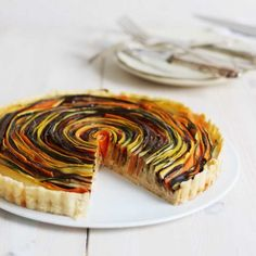 Delicious Vegetable Tart with an unique look.