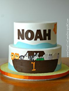 Noah's Ark Cake by Creative Cake Designs (Christina), via Flickr
