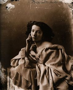 French actress (of stage and silent film) Sarah Bernhardt looking, in every last way, timelessly beautiful in this sublimely elegant image from 1865  by Félix Nadar.