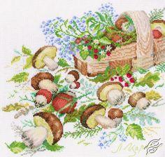 Mushrooms - Cross Stitch Kits by RTO - M071