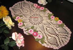 Brand new crochet table runner doily with  irish by KroneCrochet