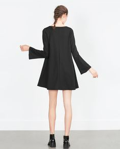 Image 5 of DRESS WITH BELL SLEEVES from Zara