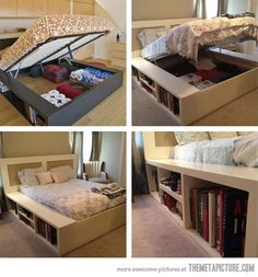 Great use of found space for storage!