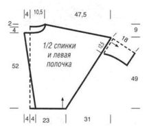 Кофта летучая мышь спицами схема: два примера вязания