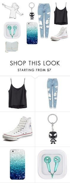 """Untitled #415"" by cj34turtles on Polyvore featuring H&M, Topshop, Converse, Marvel, Casetify and Ted Baker"