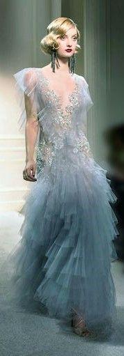 Pearl Grey, Marchesa, Tulle Dress, Ball Gowns, Cinderella, Formal Dresses, Fun, Fashion, Fantasy Gowns