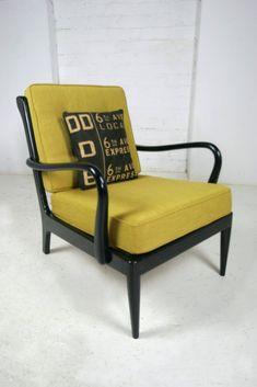 Mustard mid century armchair.