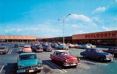 Sudbury Ontario (New Sudbury?) mall 1960s. Woolworth, Loblaws, Reitmans