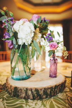 Centrepieces... Don't love the wooden block but the rest is great.