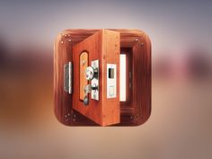Iconfinder week 4 - App Icon Design - Wooden Door by Dash