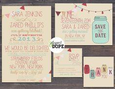 Bohemian indie Rustic Wedding invitation  by ElegantandDope, $50.00