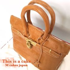 お洒落なバーキンケーキ✨ #質感 #エルメス #バーキン #鞄 #高級 #革 #ハンドメイド #バースデーケーキ #bagcake #fondant #オーダーメイドケーキ #サプライズ #cakelove #cake #3dケーキ #彫刻ケーキ