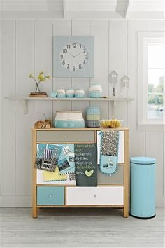Promenade kitchen collection- add some light blue to our kitchen?