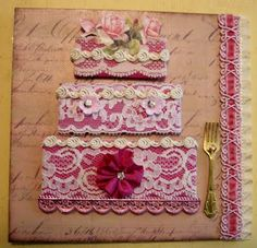 Designs By Terri Gordon: LACE CAKE CHUNKY BOOK PAGE