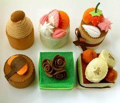 cake handmade by felt material