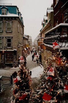 """blankcheque: """" Quebec City """" It's always Christmas on my blog ❄"""