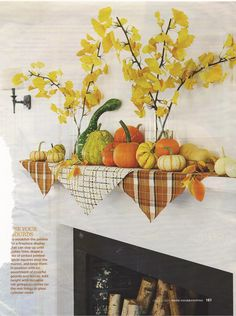 Fall mantel image.  My mantle is bare, so maybe I'll give this a try this season.