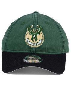 New Era Milwaukee Bucks 2 Tone Shone 9TWENTY Fitted Cap - Green/Black Adjustable