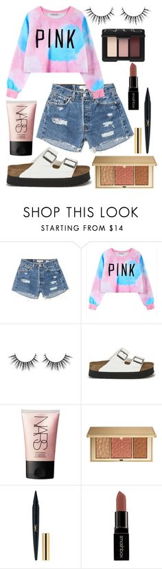 """PINK"" by mary-elizabeth-1998 ❤ liked on Polyvore featuring RE/DONE, Chicnova Fashion, Birkenstock, NARS Cosmetics, Estée Lauder and Smashbox"