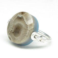 Reversible Petoskey Stone / Leland Blue by sunbeamsofpromise, $75.00