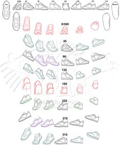 Shoe Study Angle Chart by Shadowcross.deviantart.com on @deviantART